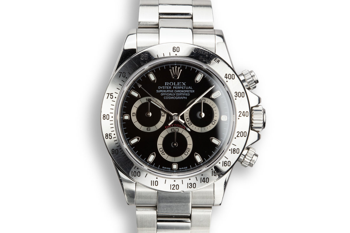 2003 Rolex Daytona 116520 Black Dial with Box and Papers photo, #0