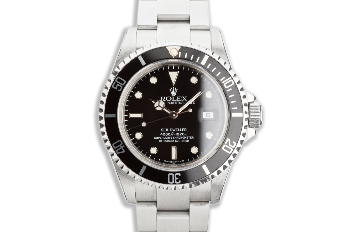 1991 Rolex Sea-Dweller 16600 with Box Service Papers & Papers photo, #0