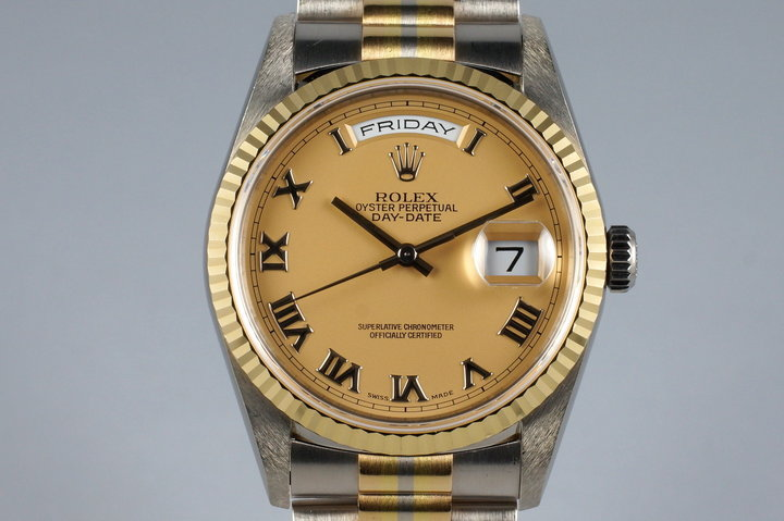 1999 Rolex Day-Date 18239B TRIDOR with Orange Cream Dial photo