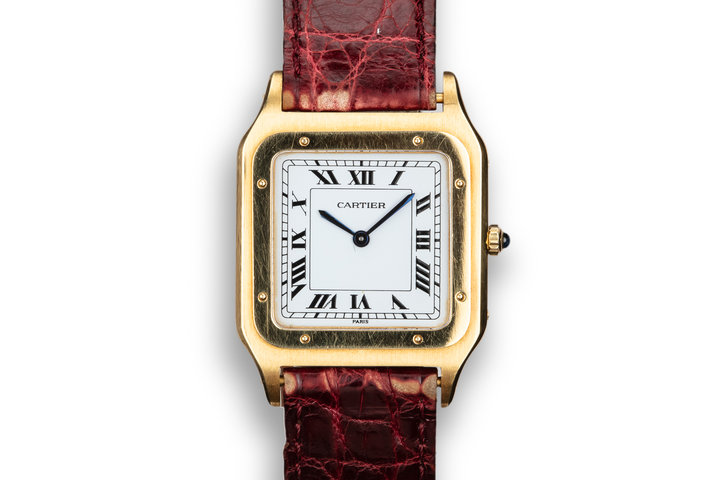 Cartier 18K YG Santos Dumont Paris Mecanique 15751 photo