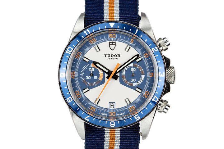 Tudor Heritage Chrono Blue 70330B with Box photo