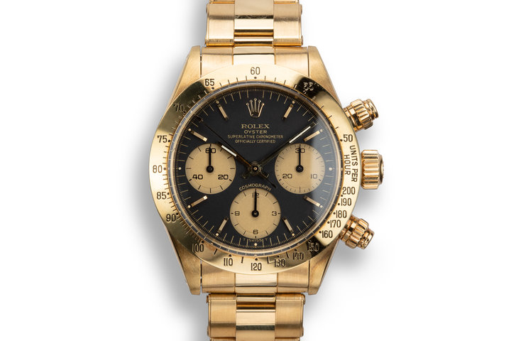1974 Rolex 18K YG Daytona 6265 with Service Papers photo