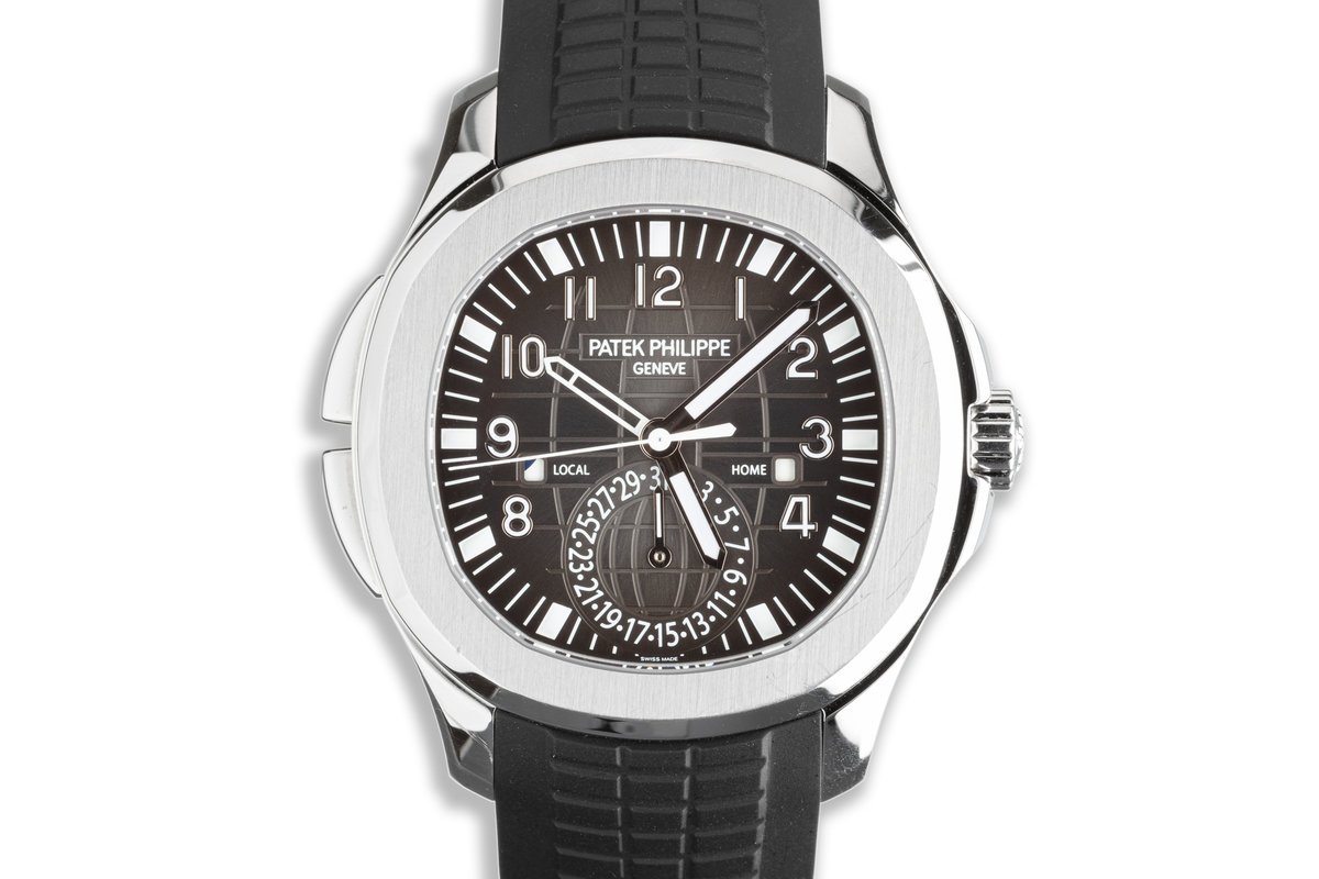 2019 Patek Philippe Aquanaut 5164A-001 Travel Time with Box & Papers photo, #0