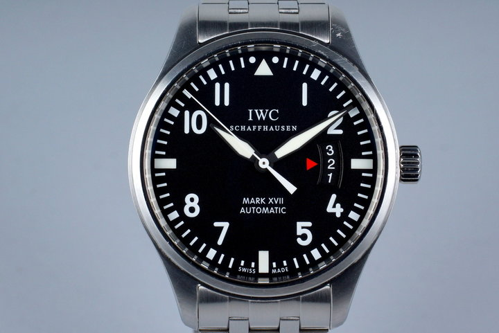 2013 IWC Pilots Mark XVII IW326504 with Box and Papers photo