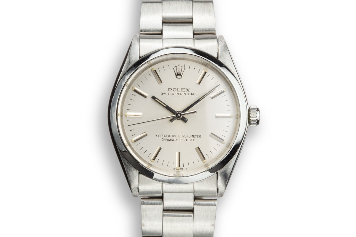 1978 Rolex Oyster Perpetual 1002 Silver Dial photo, #0