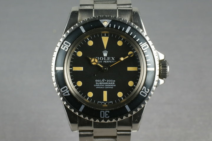 Rolex Submariner 5512 Unpolished with original sales receipt photo