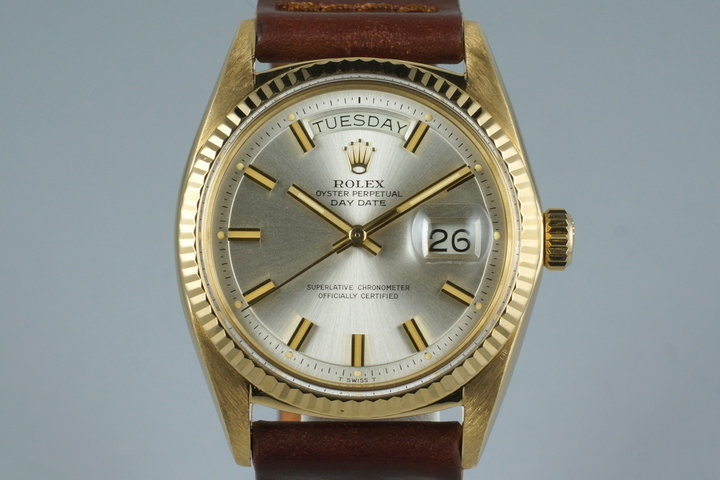 1970 Rolex YG Day-Date 1803 with Silver 'Wide Boy' Dial photo