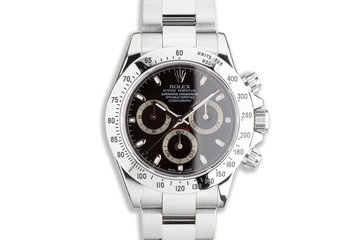 2008 Rolex Daytona 116520 Black Dial with Box & Card photo