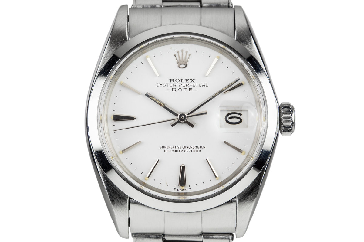1969 Rolex Date 1500 White Dial photo, #0