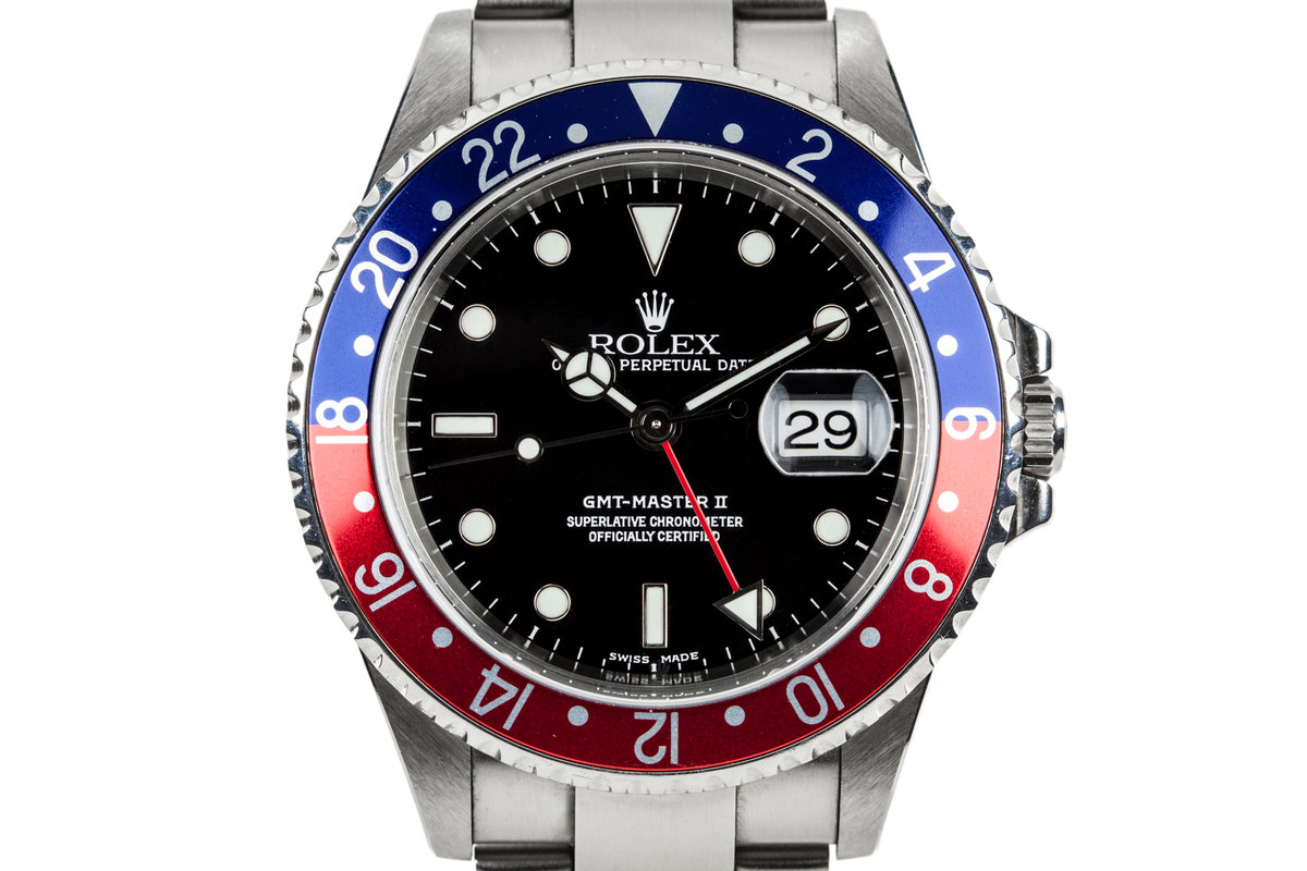2002 Rolex GMT-Master II 16710 with Box and Papers photo, #0