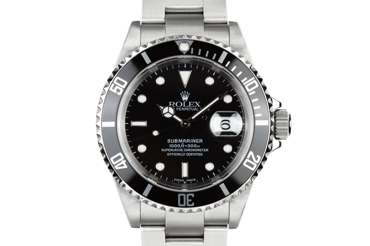 2003 Rolex Submariner 16610 with Service Papers photo, #0