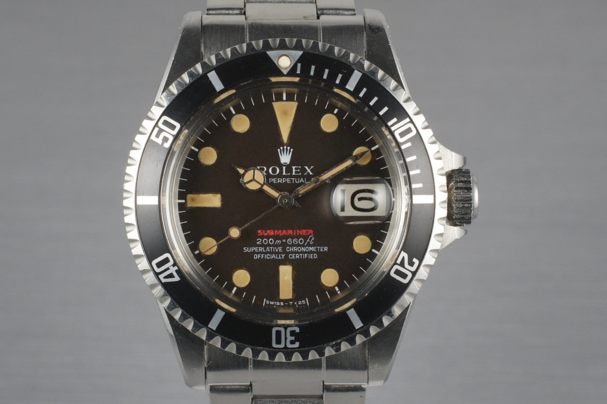1969 Rolex Red Submariner 1680 Meters First Mark II BROWN Dial with Box and  Papers photo