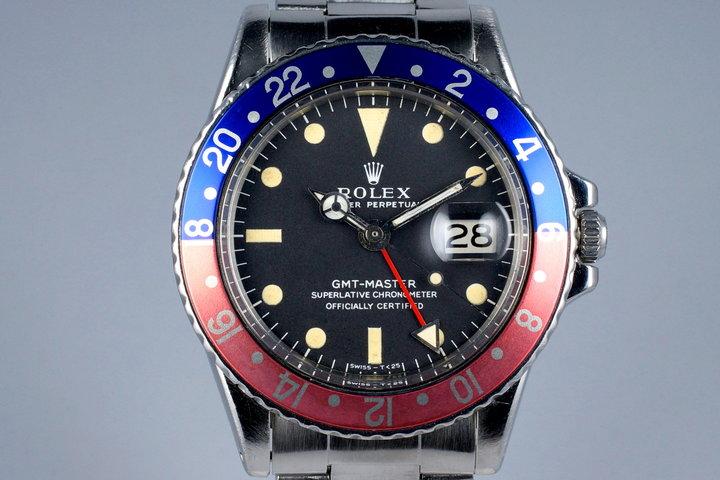 1972 Rolex GMT 1675 Mark I Dial photo