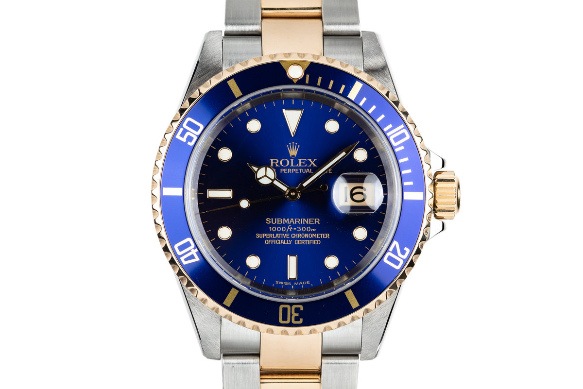 2003 Rolex Two-Tone Submariner 16613 Blue Dial with Box and Papers photo, #0