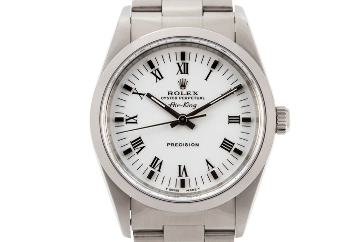 1996 Rolex Air-King 14000 White Roman Dial photo