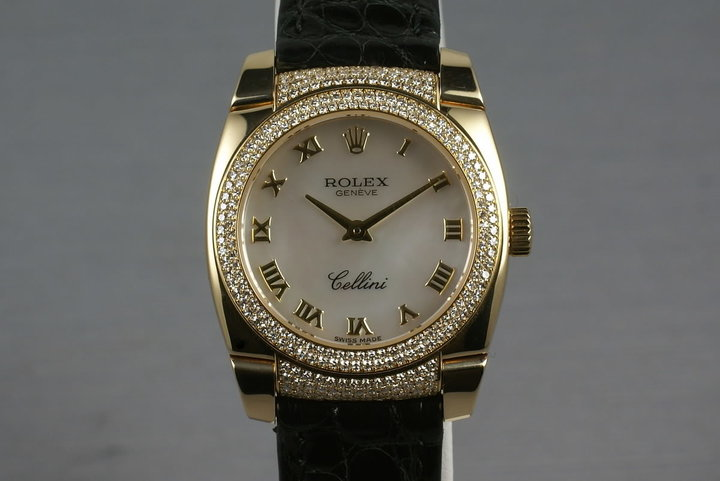 Rolex Cellini 18K MOP Dial + Diamonds on case and bezel 6311 photo