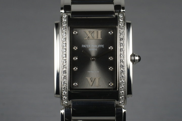 Patek Philippe Ladies 24 Tiffany Diamond Dial with Box and Papers photo