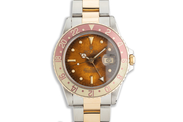 1982 Vintage Rolex GMT-Master 16753 with Tropical Nipple Dial photo