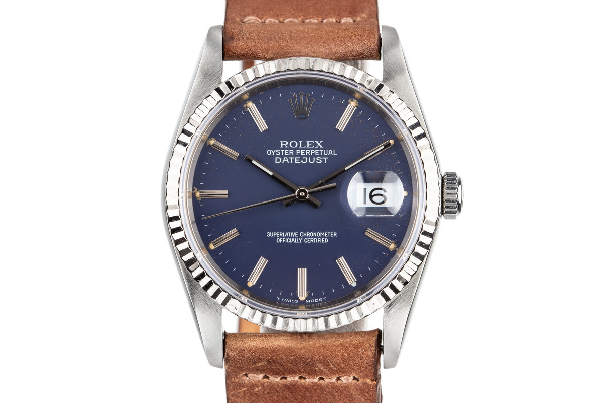 1988 Rolex DateJust 16234 with Matte Blue Dial photo, #0