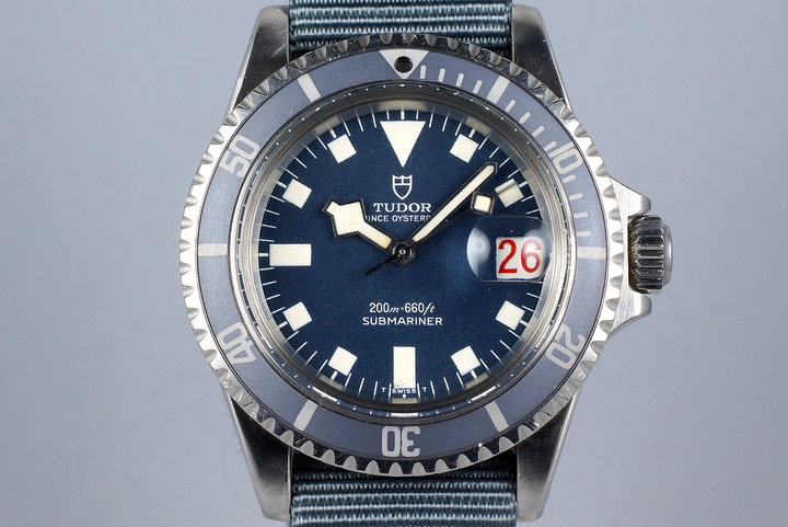 "1968 Tudor Submariner 7021/0 Blue Snowflake Dial with ""Kissing 40 Ghost"" Insert photo"