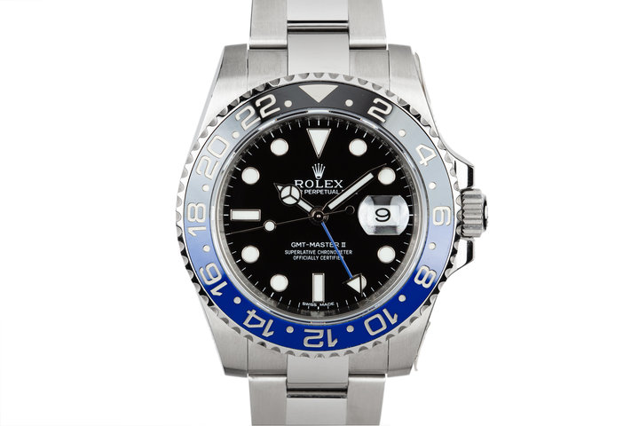 "2015 Rolex Gmt-Master II 116710BLNR ""Batman"" with Box and Papers photo"