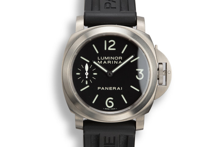 2011 Panerai Titanium Luminor Marina Pam 00177 with Box and Papers photo