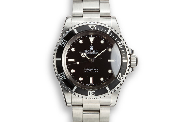 "1984 Rolex Submariner 5513 with Glossy ""Spider"" Dial with Service Papers photo"
