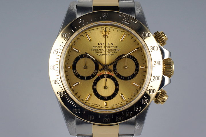 1997 Rolex Two Tone Zenith Daytona 16523 with Box and Papers photo