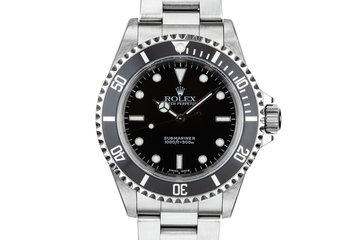 2001 Rolex Submariner 14060M with Box and Papers photo
