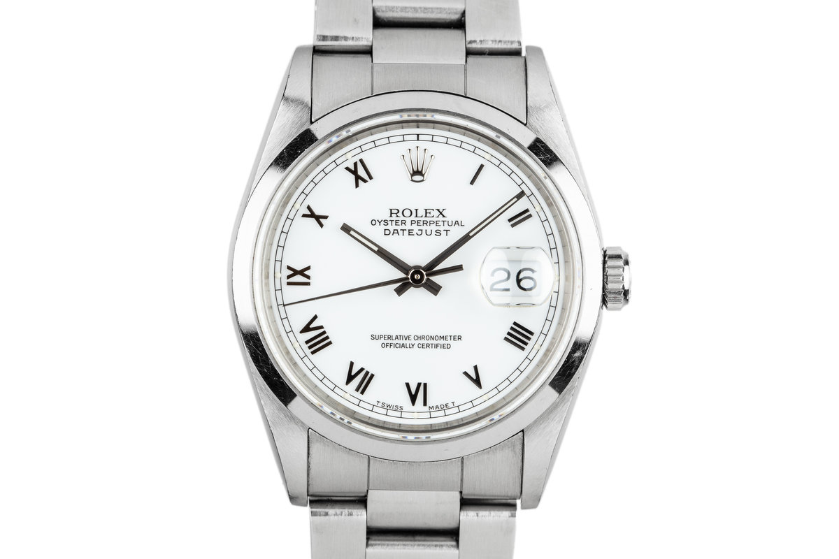 1993 Rolex DateJust 16200 White Roman Dial photo, #0