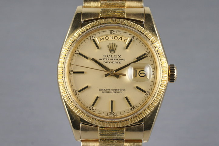 1970 Rolex YG Bark Day-Date 1807 photo