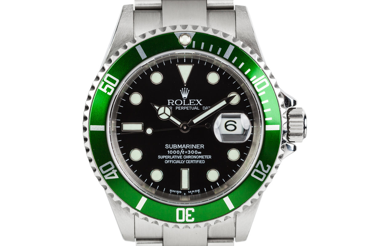 2003 Rolex Submariner 16610LV with MK I dial and Green Bezel photo, #0