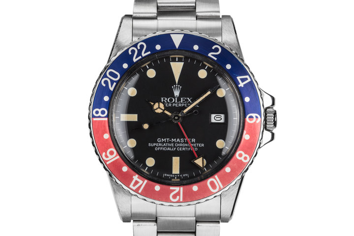 "1981 Rolex GMT-Master 16750 Matte Dial with ""Pepsi"" Bezel Insert photo"