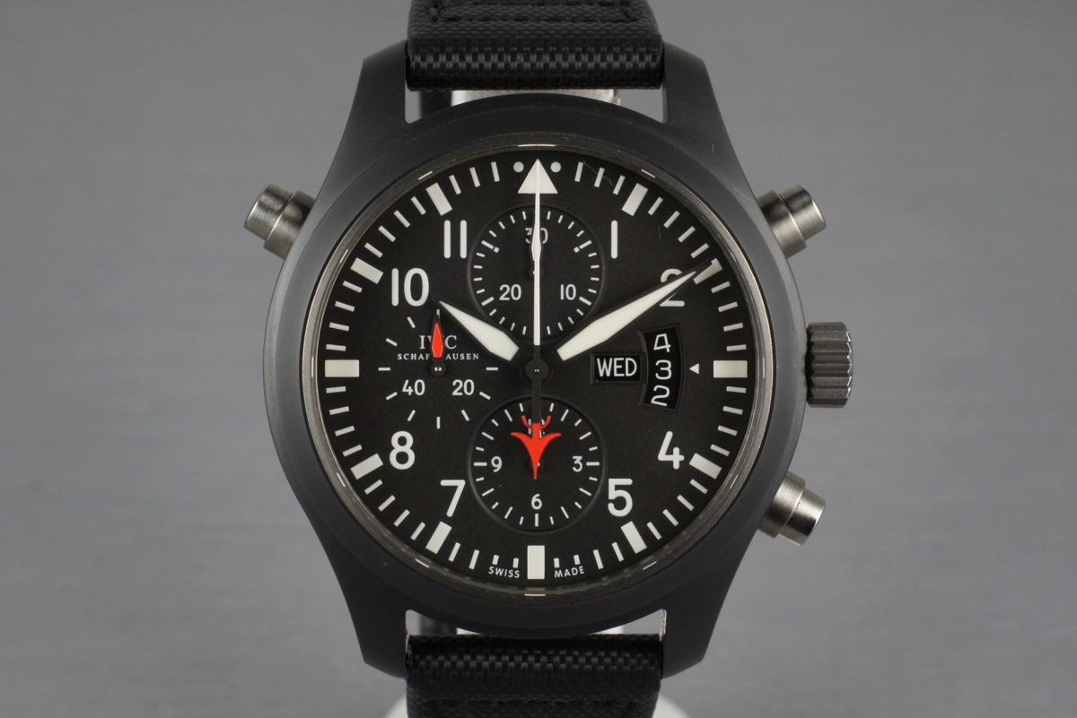 2009 IWC Pilot's Double Chronograph Edition Top Gun IW379901 with Box and Papers photo, #0