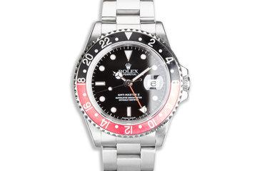 "1996 Rolex GMT-Master II 16710 ""Coke"" Bezel Box & Papers photo"