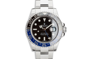 "2014 Rolex GMT-Master II 116710BLNR ""Batman"" with Box and Card photo"