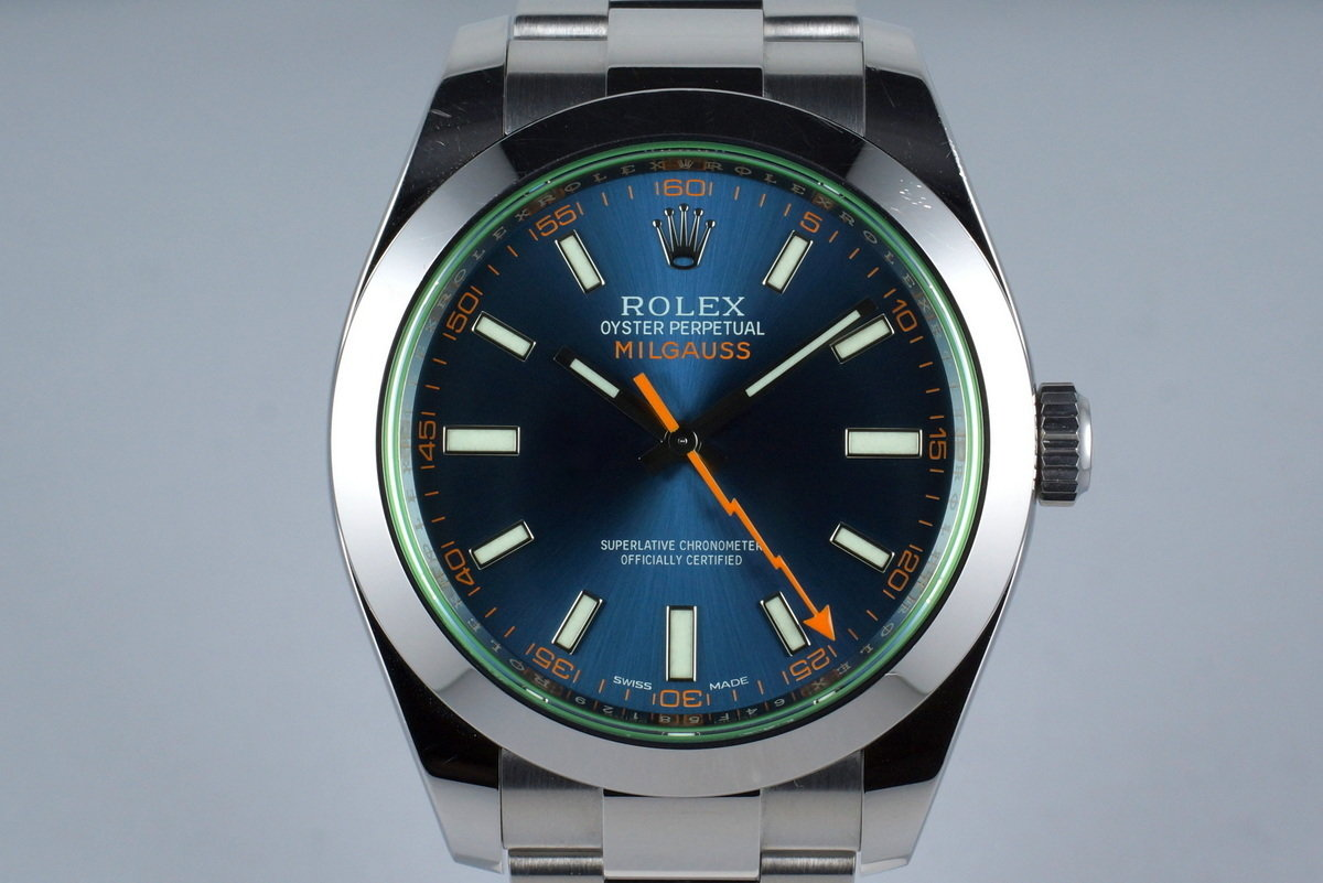 2015 Rolex Milgauss 116400GV with Box and Papers photo, #0
