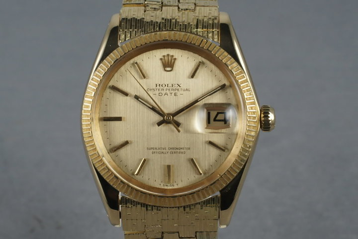 1965 Rolex 18K  Date 1509 with Rare Rolex Band photo