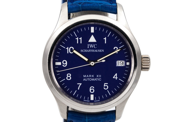 IWC Platinum Pilot's Mark XII with IWC Service Box and Service Papers photo