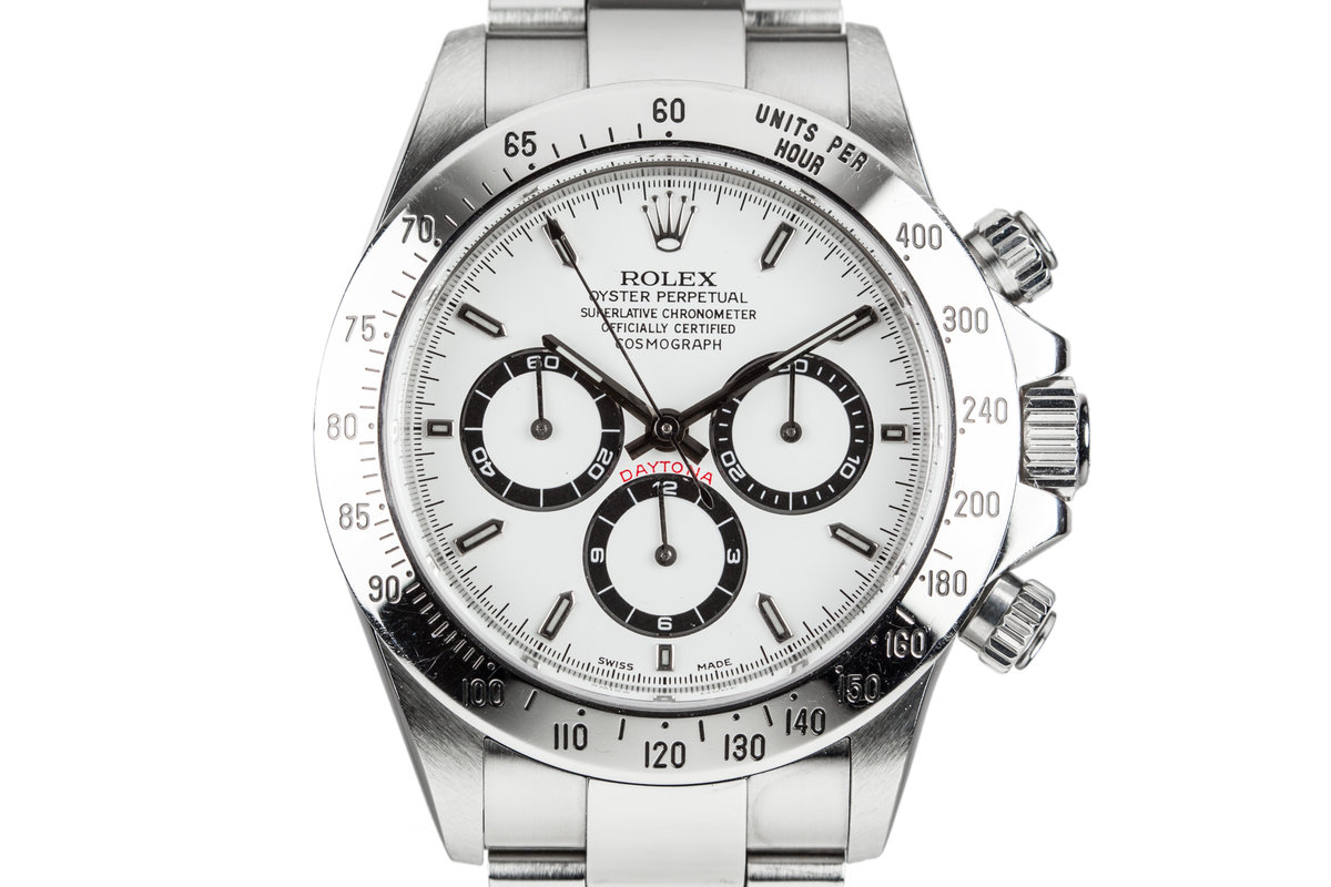 1999 Rolex Zenith Daytona 16520 White Dial photo, #0