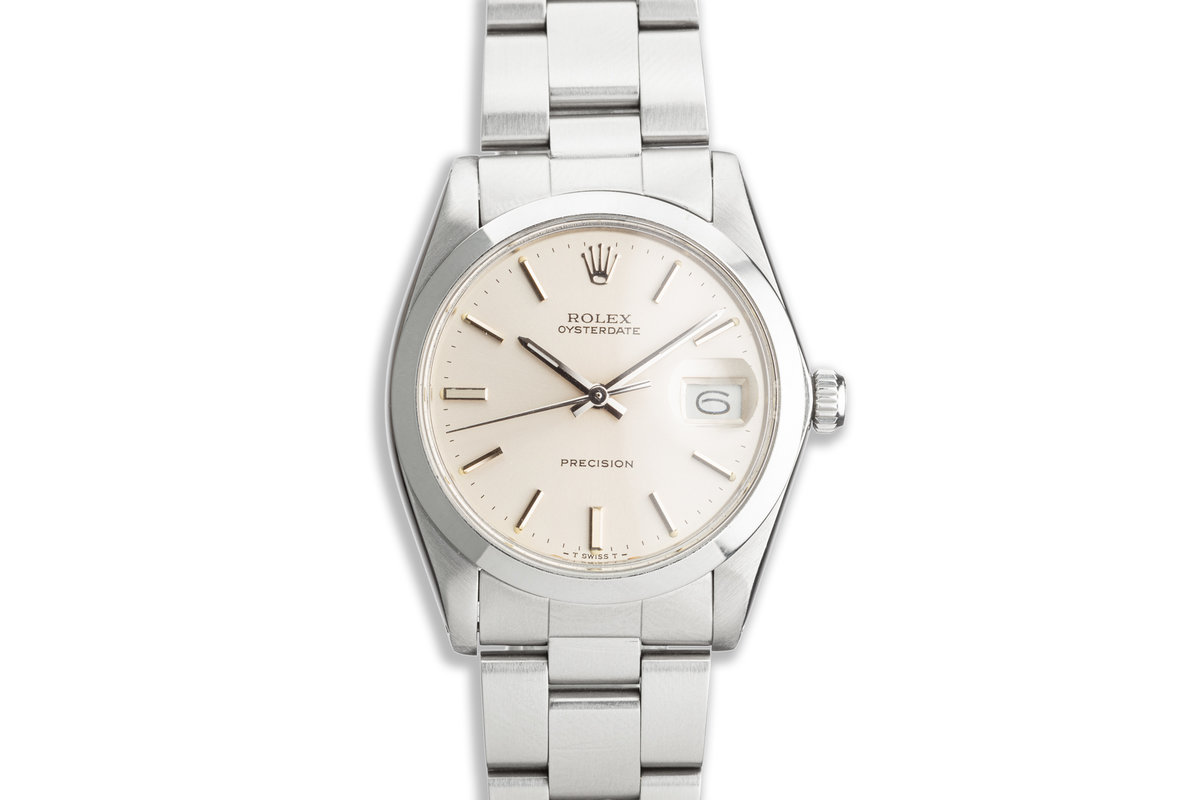 1984 Vintage Rolex OysterDate Precision 6694 Silver Dial photo, #0