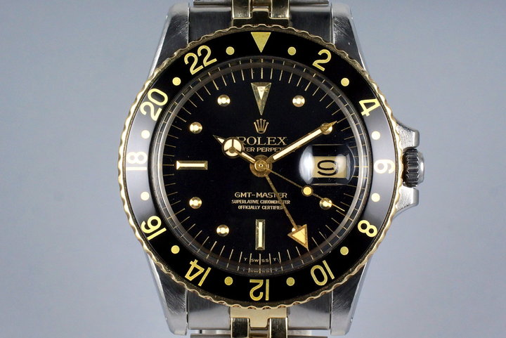 1971 Rolex Two Tone GMT 1675 Black Dial photo