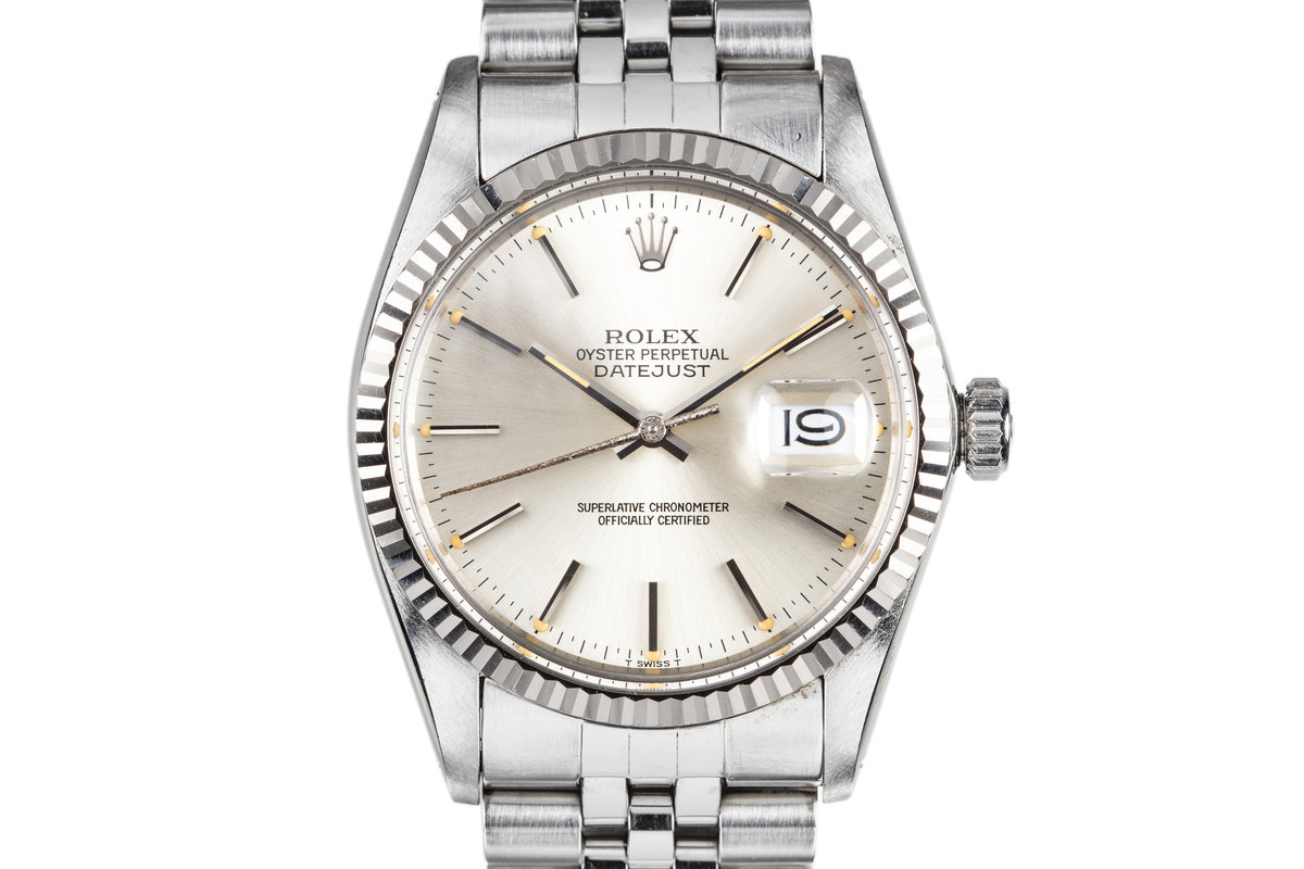 1984 Rolex DateJust 16014 Silver Dial photo, #0