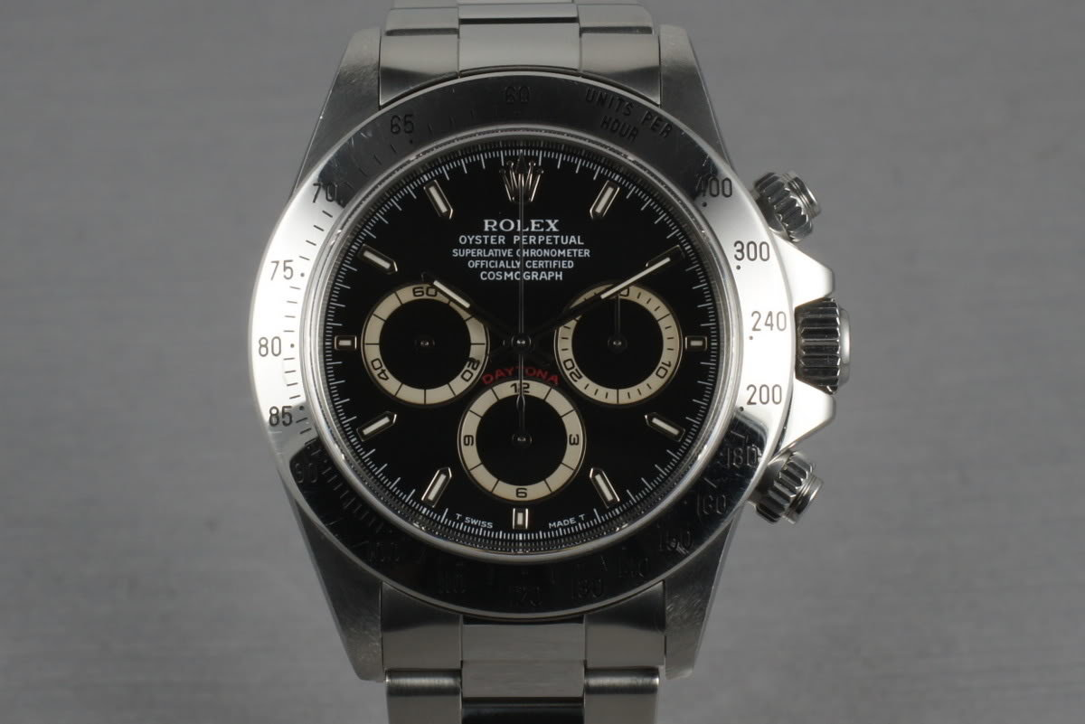 Rolex SS Zenith Daytona 16520 Box and Papers with Black Dial photo, #0