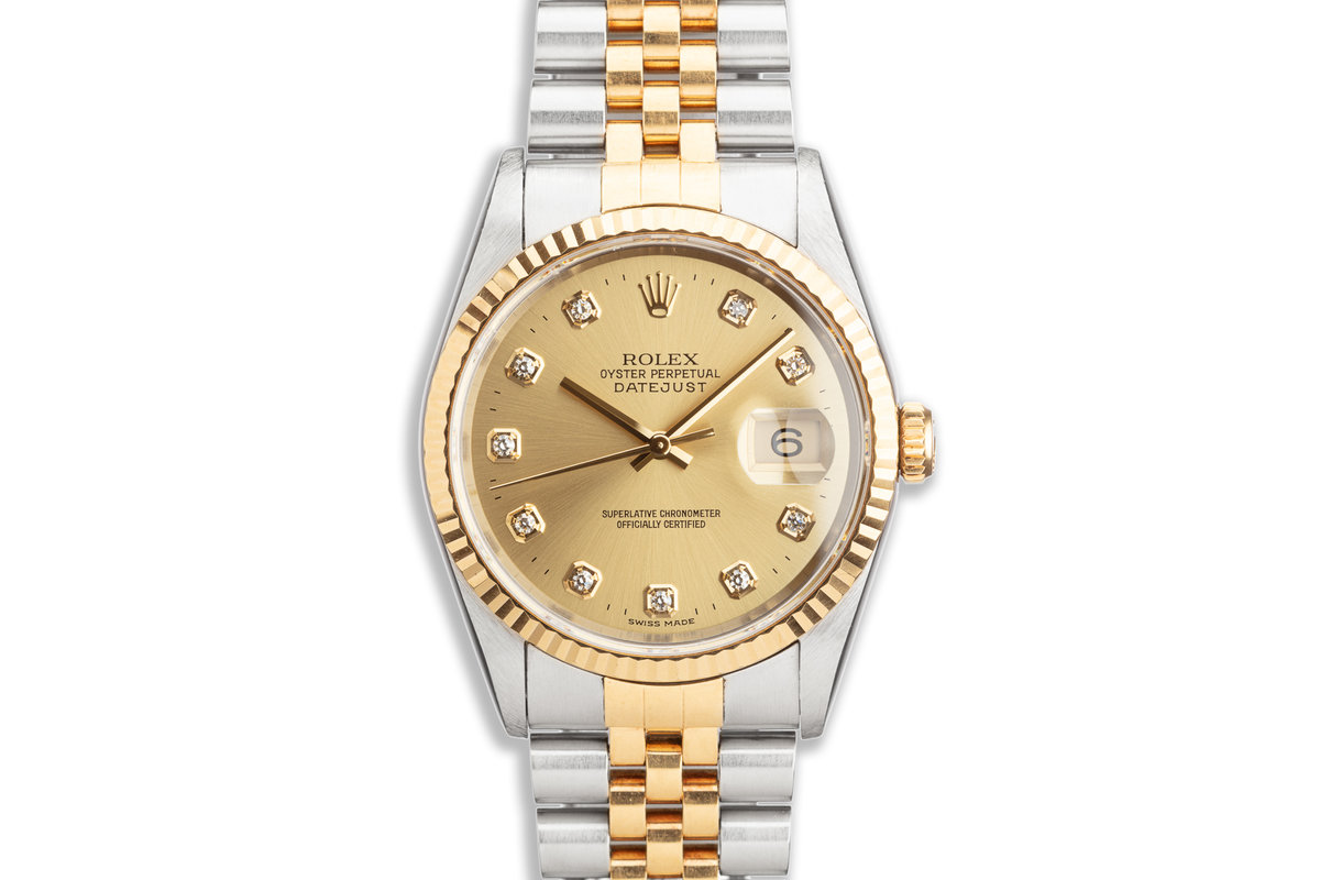 1996 Rolex Two-Tone DateJust 16233 Diamond Dial photo, #0