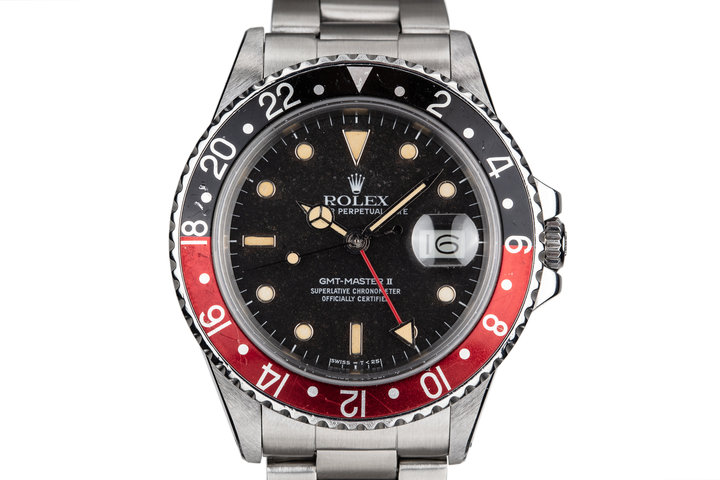 "Rolex 1985 Fat Lady GMT-Master II with ""Black Granite"" Dial photo"