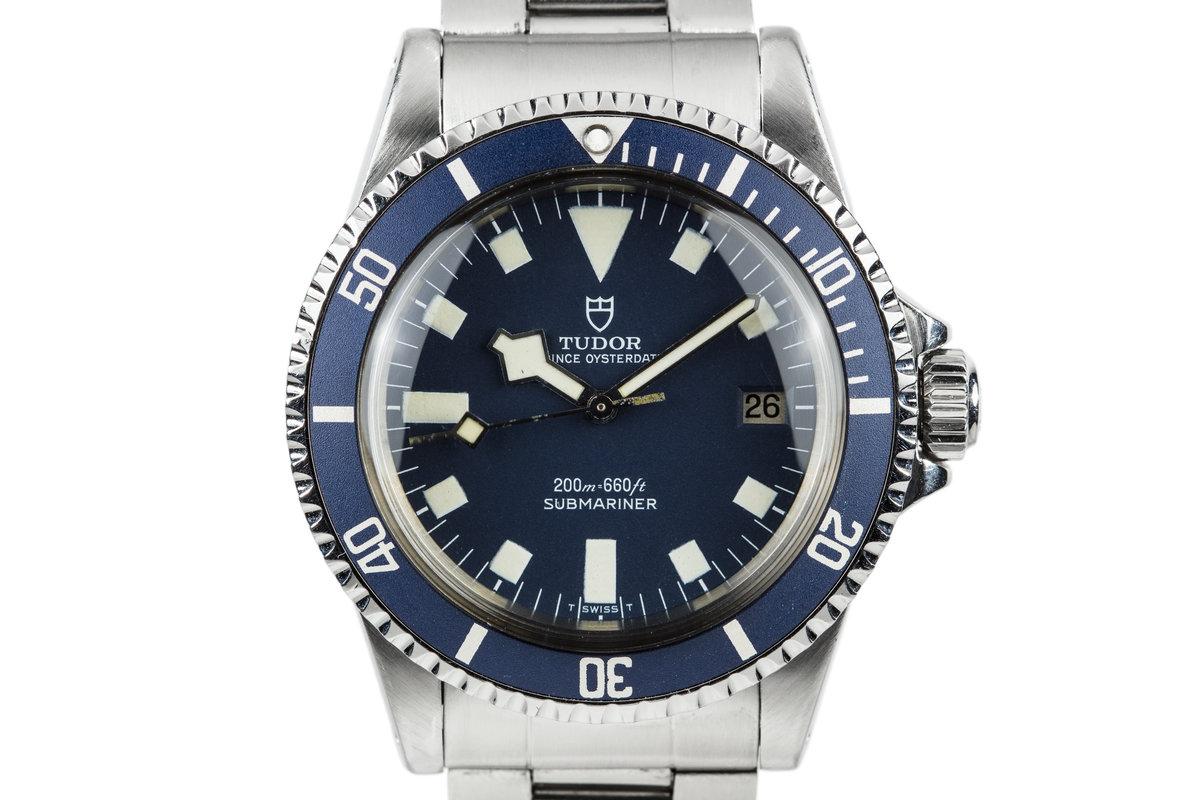 "1980 Tudor Submariner Blue ""Snowflake"" 94110 photo, #0"