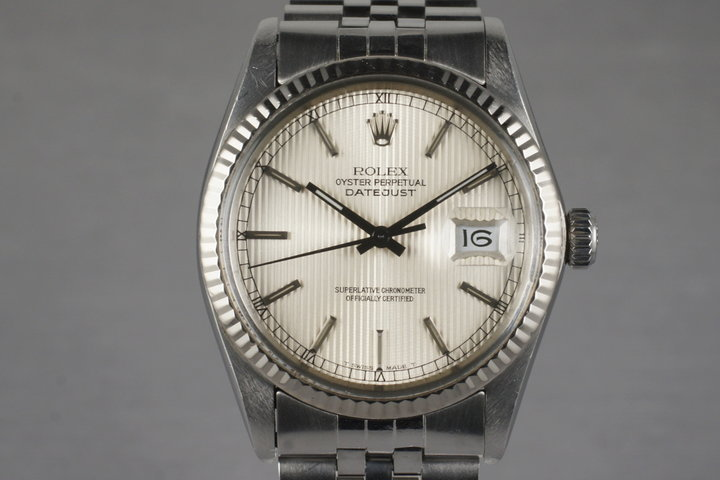 1984 Rolex DateJust 16014 with Silver Tapestry Dial photo
