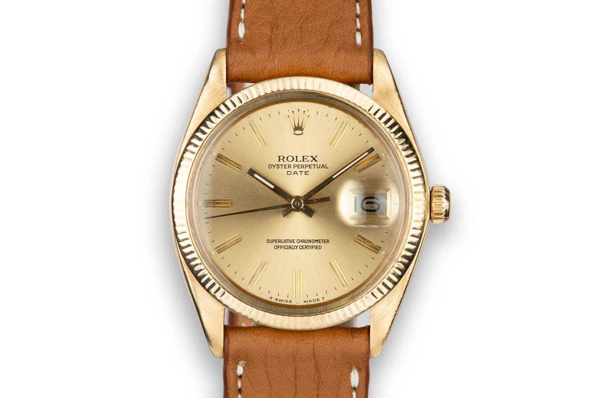 1978 Rolex 18K YG Date with Champagne Dial photo, #0