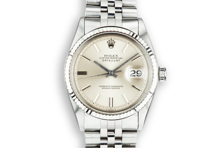 1970 Rolex DateJust 1601 with No Lume Silver Dial photo